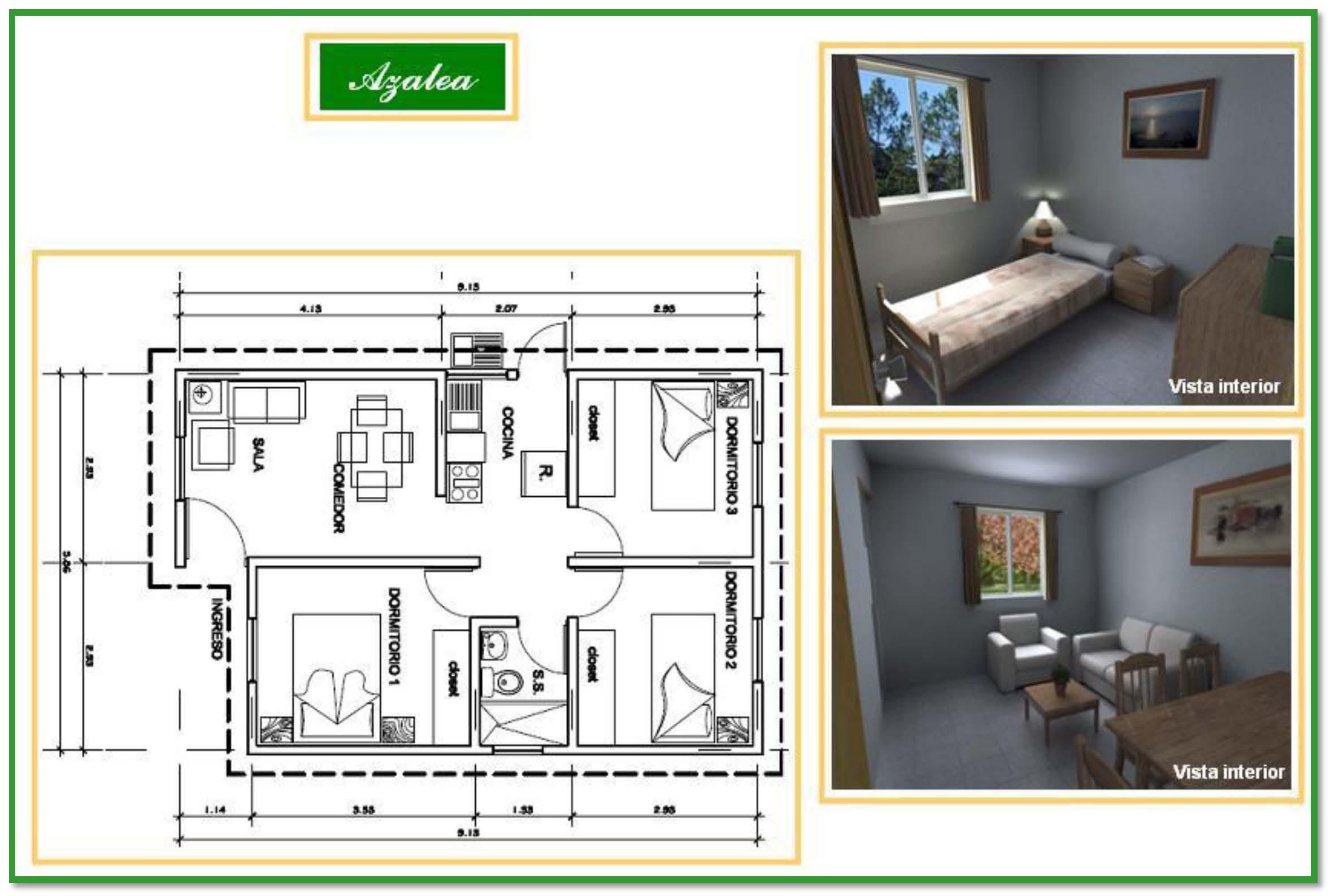 Si tienes lote propio construye tu casa con cementos Modelo de viviendas para construir