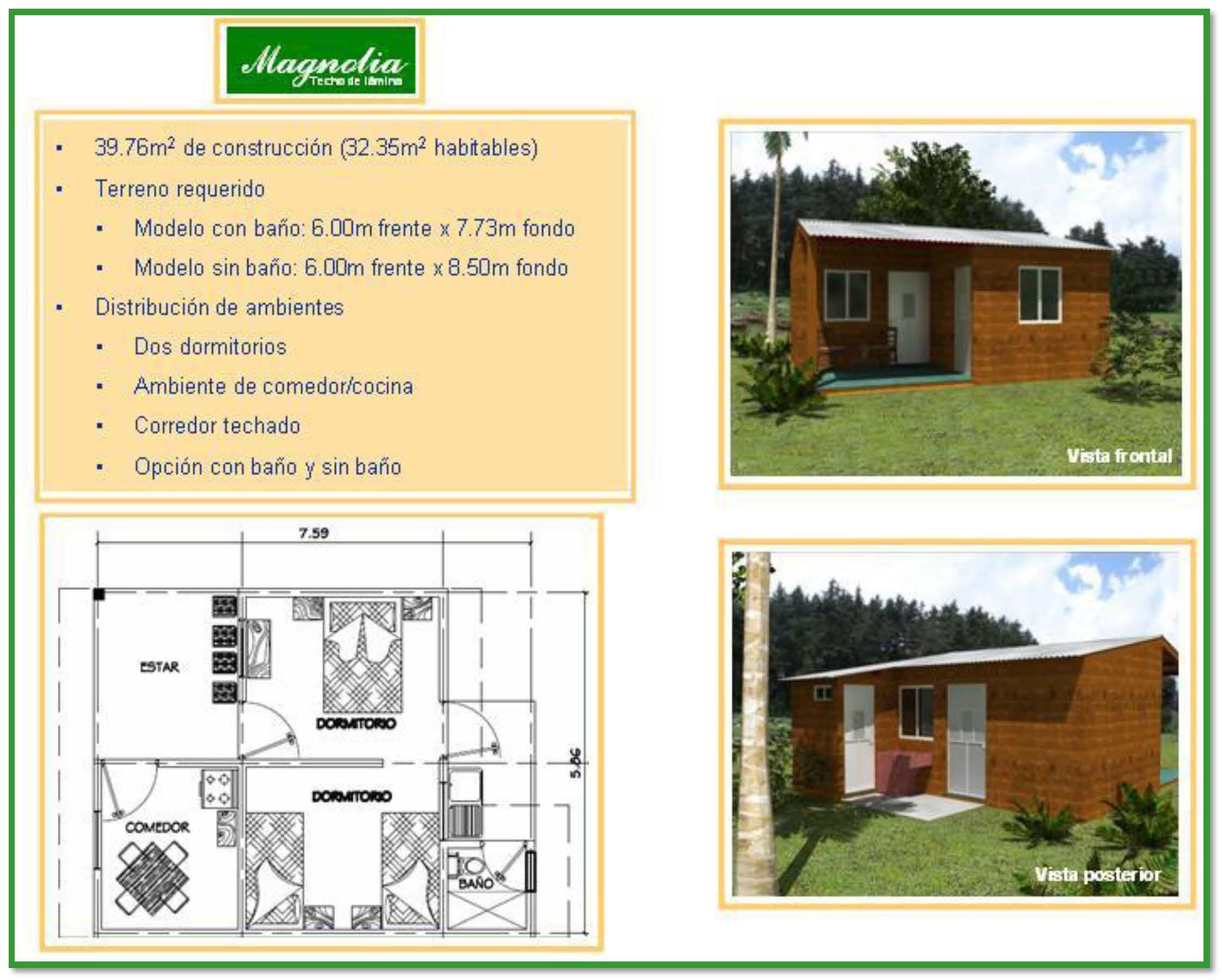 Si tienes lote propio construye tu casa con cementos for Tipos de techos para viviendas