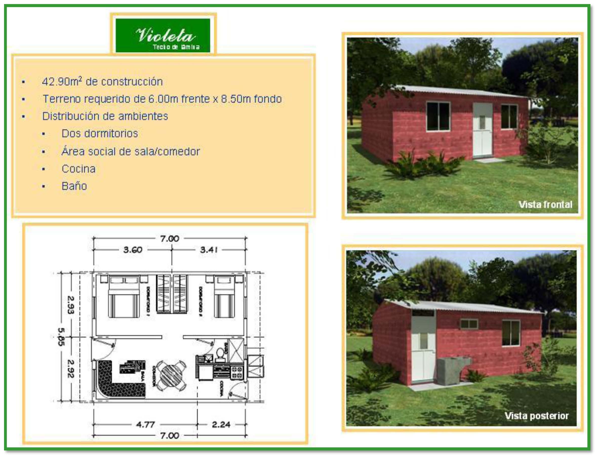 Si tienes lote propio construye tu casa con cementos for Materiales para techos de casas